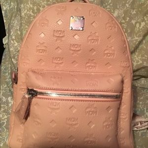 MCM blush pink back pack